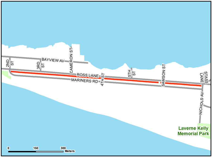 Map of Erieau Boulevard Trail