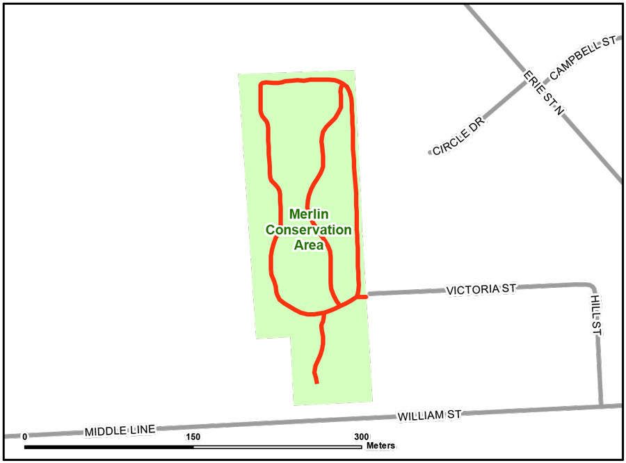 Map of Merlin Conservation Area Trail