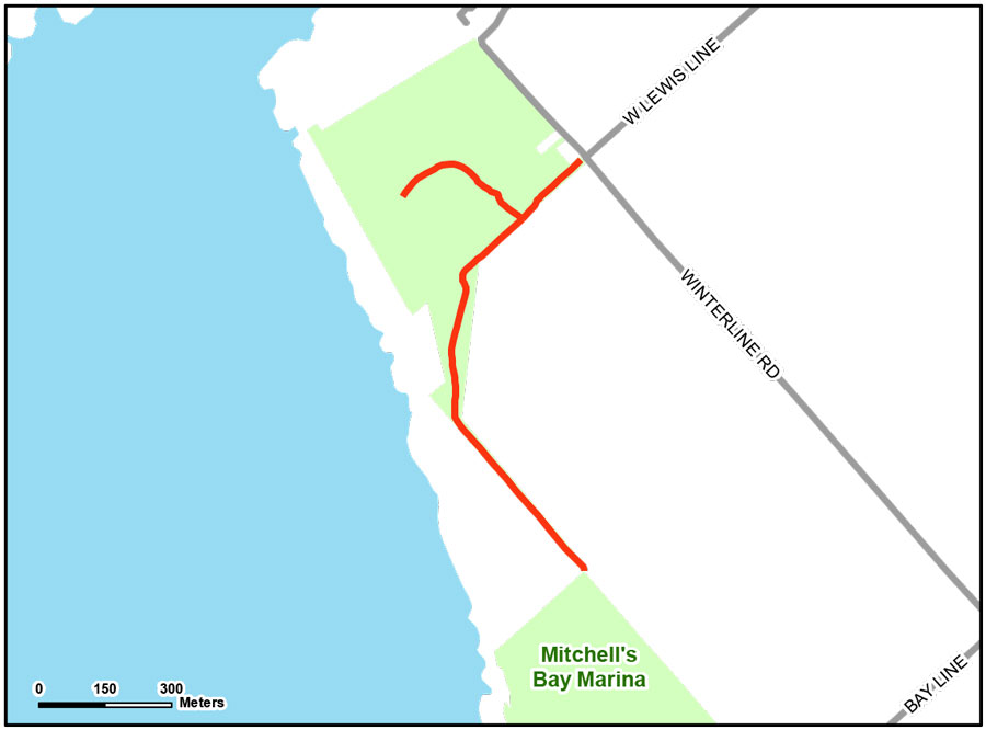 Map of North Lakeshore Trail