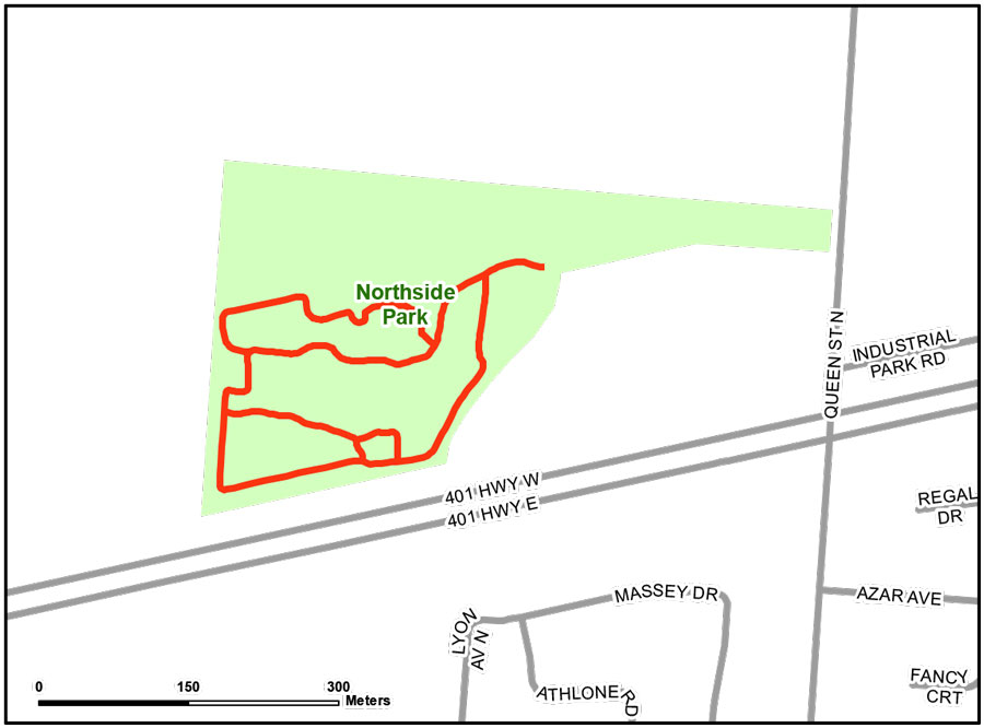 Map of Northside Park Trail