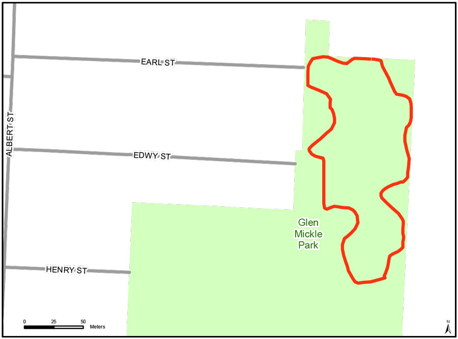 Map of Glen Mickle Fit Trail