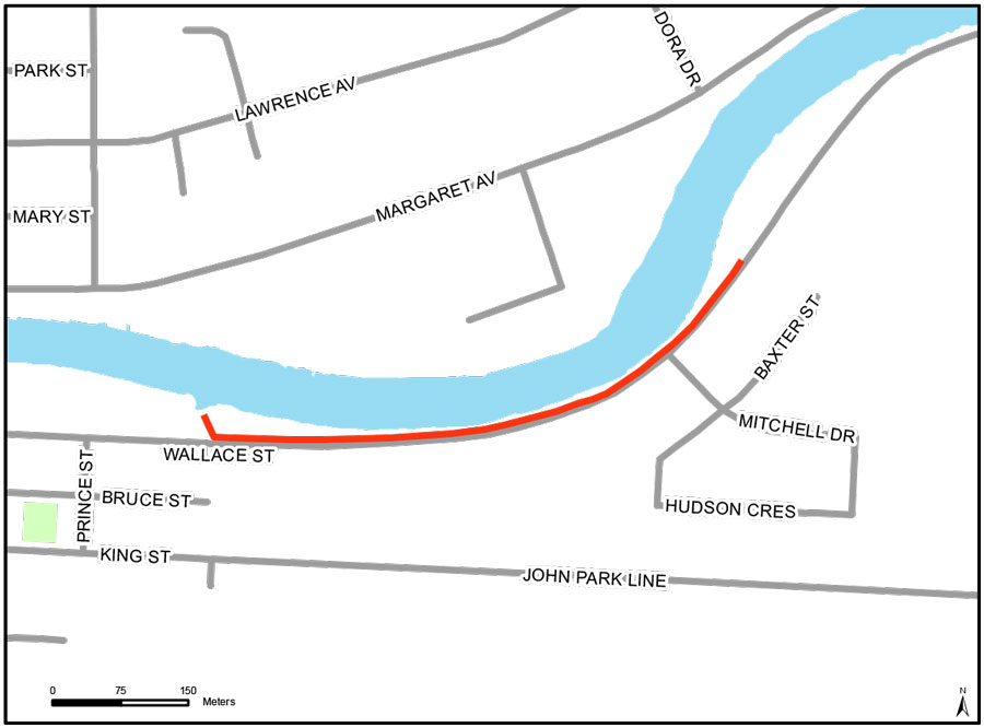 Map of Wallace St Recreational Trail